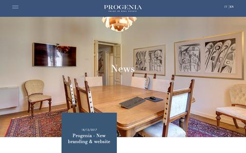 Screenshot of Press Page progenia.it - News - Progenia - Value in real estate - captured Sept. 30, 2018