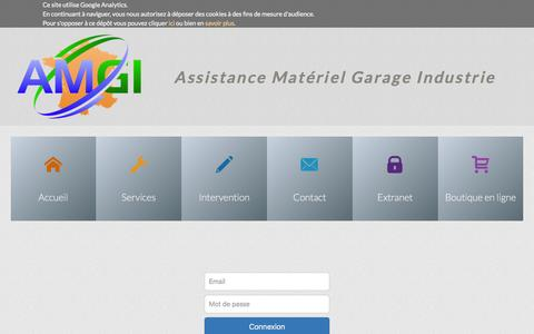 Screenshot of Login Page amgi.fr - AMGI - Extranet - captured Feb. 4, 2016