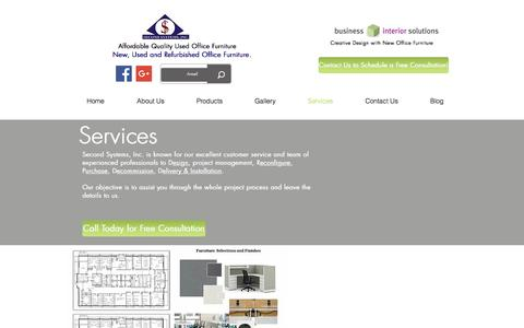 Screenshot of Services Page secondsystems.com - Services/Second Systems, Inc. - captured Nov. 19, 2016