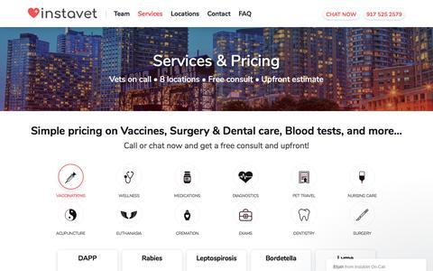 Screenshot of Services Page instavet.net - Elijah says… - captured July 19, 2019