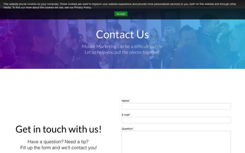 Screenshot of Contact Page aarki.com - Aarki - Contact Us - captured Sept. 18, 2019