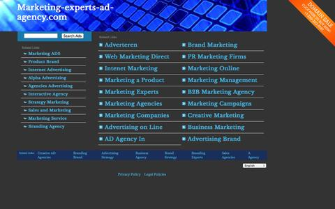 Screenshot of Home Page marketing-experts-ad-agency.com - marketing-experts-ad-agency.com - captured Sept. 30, 2014