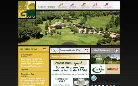 Screenshot of Home Page gualta.com - Pitch&Putt Gualta par3  escola de golf  Catalunya Spain - captured Oct. 1, 2014