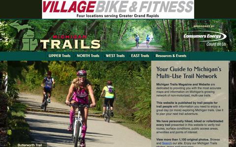 Screenshot of Home Page trailsmichigan.com - Michigan Trails | Home Page Michigan Trails - captured Sept. 20, 2015