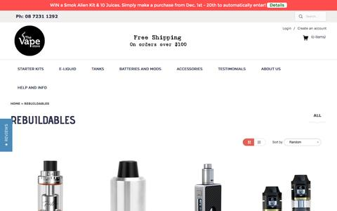 Rebuildables | The Vape Store