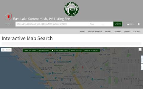 Screenshot of Maps & Directions Page thecascadeteam.com - All Property Types in All Cities - captured July 1, 2018