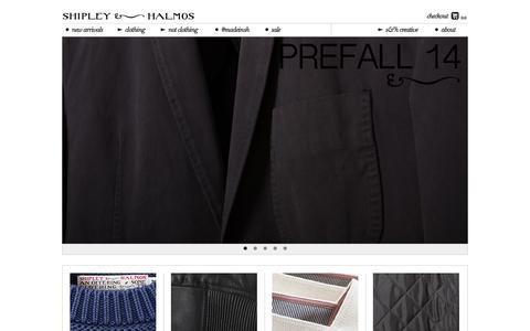 Screenshot of Home Page shipley-halmos.com - Shipley & Halmos - captured Sept. 30, 2014
