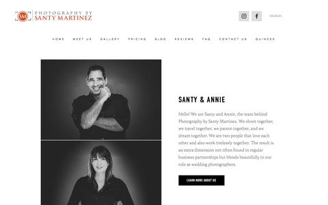 Screenshot of Home Page santymartinezphotographers.com - Photography by Santy Martinez - Miami Wedding Photographers - captured July 21, 2019