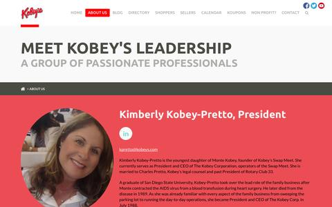 Screenshot of About Page kobeyswap.com - Welcome to Kobey's Swap Meet | About Us - captured Oct. 6, 2014