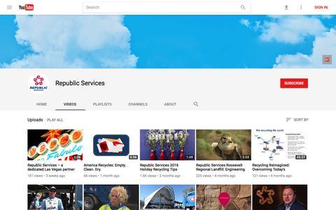 Republic Services - YouTube