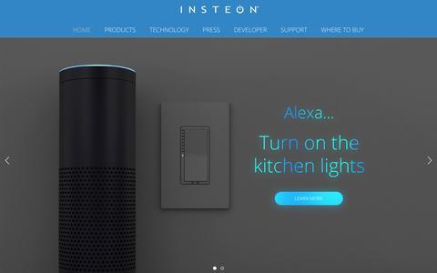 Screenshot of Home Page insteon.com - insteon.com - captured Dec. 20, 2015