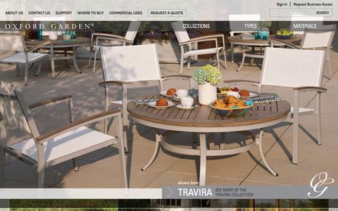 Screenshot of Home Page oxfordgarden.com - Oxford Garden - Outdoor & Patio Furniture for Moments Lived Outdoors - captured Sept. 23, 2014