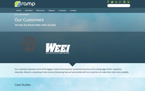 Screenshot of Case Studies Page ramp.com - Our Customers - RAMP - captured Feb. 18, 2016
