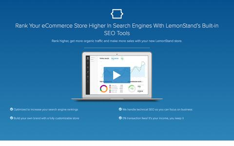 Screenshot of Landing Page lemonstand.com - Advanced eCommerce SEO Features | LemonStand - captured Aug. 19, 2016