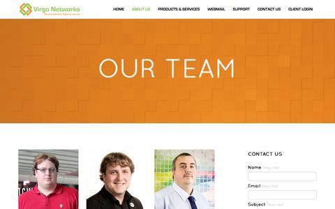 Screenshot of Team Page virgo-networks.co.uk - Virgo Networks :: Our Team - captured Dec. 14, 2016