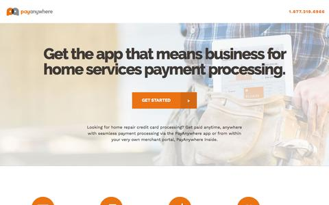 Screenshot of Landing Page payanywhere.com - HomeServices PPC | PayAnywhere - captured Aug. 15, 2018