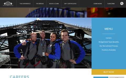 Screenshot of Jobs Page bridgeclimb.com captured Sept. 19, 2014