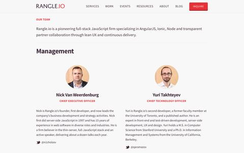 Screenshot of Team Page rangle.io - Team Rangle.io - captured Jan. 15, 2016