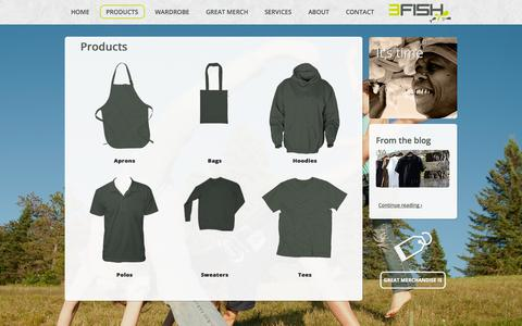 Screenshot of Products Page 3fish.com.au - Products - captured Sept. 30, 2014