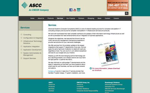 Screenshot of Services Page as-cc.com - IT System Installation Services & More :: ASCC - captured Feb. 25, 2018