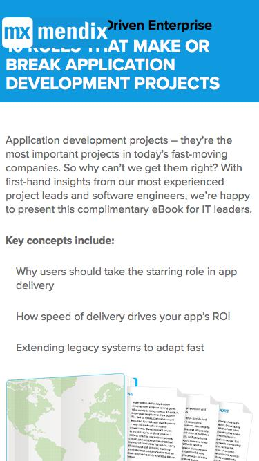 10 Rules That Make or Break Application Development Projects