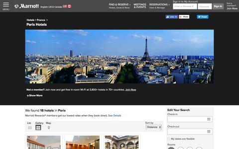 Find Paris Hotels by Marriott