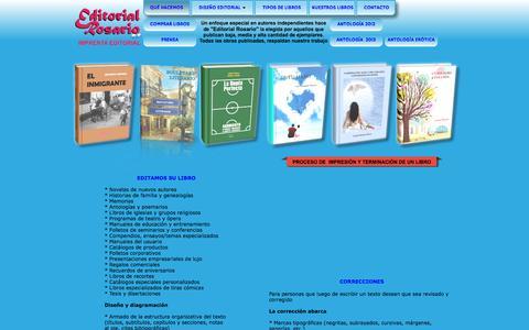 Screenshot of Home Page editorialrosario.com.ar - EDITORIAL ROSARIO - captured Sept. 29, 2014