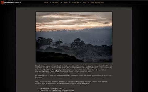 Screenshot of About Page jacobperl.com - Jacob Perl Photography   About - captured Oct. 1, 2018