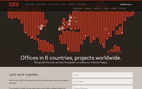 Screenshot of Contact Page dri-global.com - Contact Us | DRI - captured Oct. 1, 2014