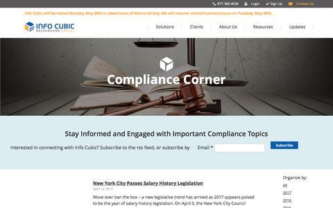 Compliance Corner | Info Cubic