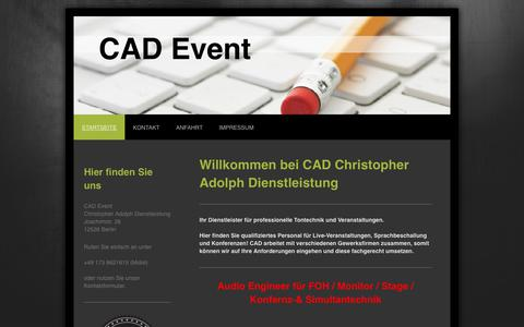 Screenshot of Home Page cad-event.de - CAD Christopher Adolph Dienstleistung - Startseite - captured June 10, 2018