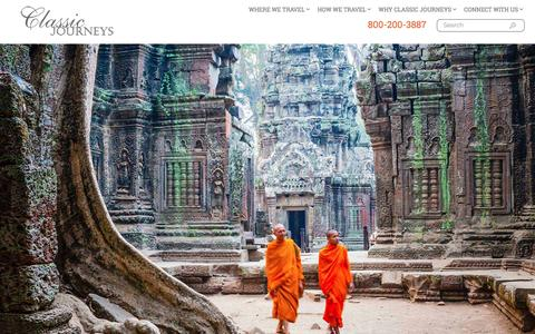 Screenshot of Home Page classicjourneys.com - Classic Journeys: Luxury, Walking & Small Group Tours | Family Vacations - captured July 13, 2016