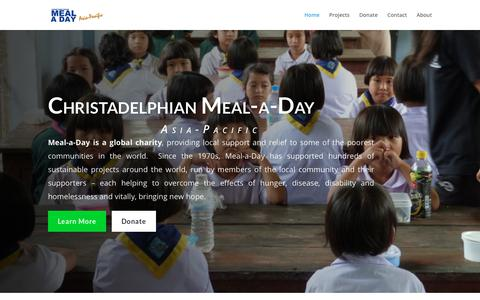 Screenshot of Home Page meal-a-day.asia - Christadelphian Meal A Day (Asia-Pacific) - captured Oct. 28, 2018