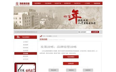 Screenshot of Developers Page mayinglong.cn - �展战略-马应龙�业集团 - captured June 12, 2016