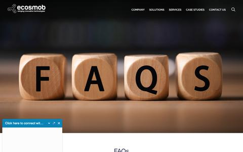 Screenshot of FAQ Page ecosmob.com - FAQs - captured Sept. 27, 2018
