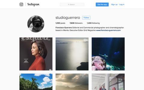 Screenshot of Blog instagram.com - Francisco Guerrero (@studioguerrero) • Instagram photos and videos - captured Nov. 25, 2016