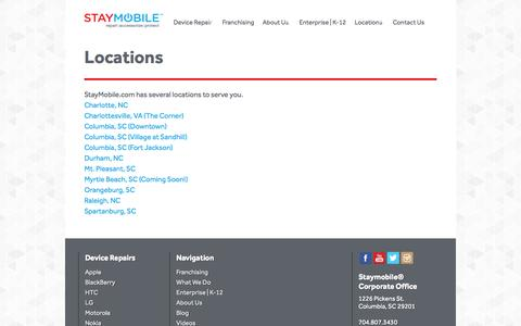 Screenshot of Locations Page staymobile.com - Locations - Staymobile.com - captured Oct. 3, 2014