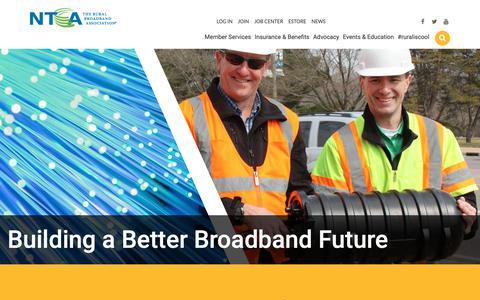 Screenshot of Home Page ntca.org - Home | NTCA - The Rural Broadband Association - captured Oct. 19, 2018