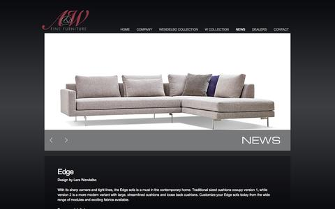 Screenshot of Press Page awfinefurniture.com - News | A&W FINE FURNITURE - QUALITY HANDMADE FURNITURE - captured Oct. 1, 2014