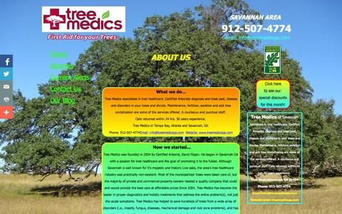 Screenshot of About Page Privacy Page treemedicsga.com - About Us - captured Oct. 26, 2014