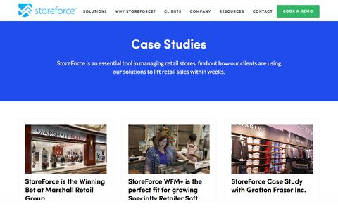 Screenshot of Case Studies Page storeforcesolutions.com - StoreForce Solutions | Case Studies - captured Aug. 1, 2019