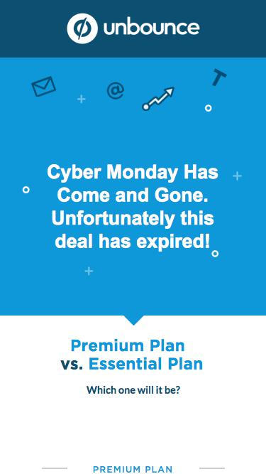 Save 25% on an Unbounce plan this Cyber Monday