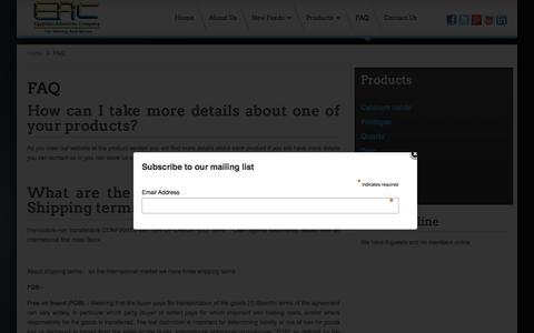 Screenshot of FAQ Page eac-eg.com - EAC - FAQ - captured Oct. 2, 2014