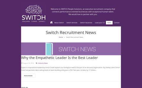 Screenshot of Press Page switchccc.com - Switch Recruitment News | Switch People Solutions - captured Nov. 5, 2014