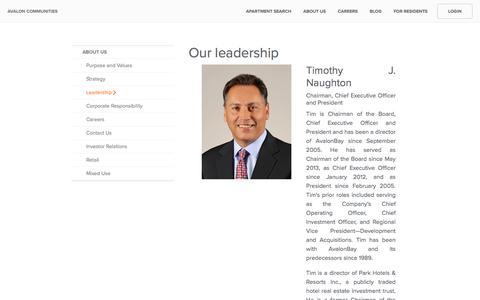Screenshot of Team Page avaloncommunities.com captured Jan. 9, 2020