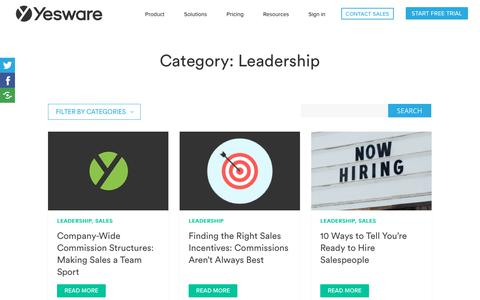 Screenshot of Team Page yesware.com - Leadership Archives | Page 4 of 4 | Yesware - captured July 12, 2019