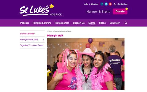 Screenshot of Signup Page stlukes-hospice.org - Detail - captured March 3, 2016