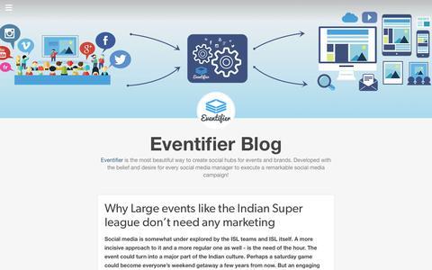 Screenshot of Blog eventifier.com - Eventifier Blog - captured Nov. 23, 2015
