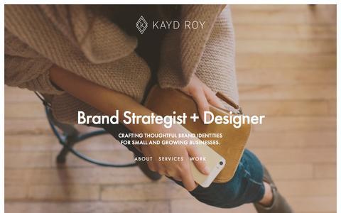 Screenshot of Home Page kaydroy.com - Kayd Roy - captured Sept. 4, 2015