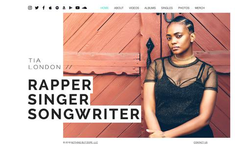 Screenshot of Home Page tialondon.com - R&B/Soul | United States | Tia London - captured Oct. 25, 2018